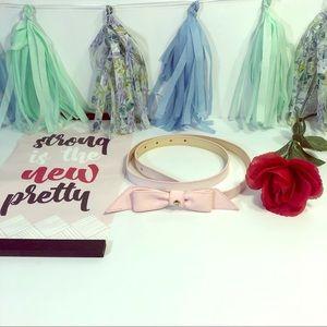 Kate Spade Pink Bow Belt (EUC)